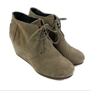 TOMS Kala Wedge Lace-Up Bootie